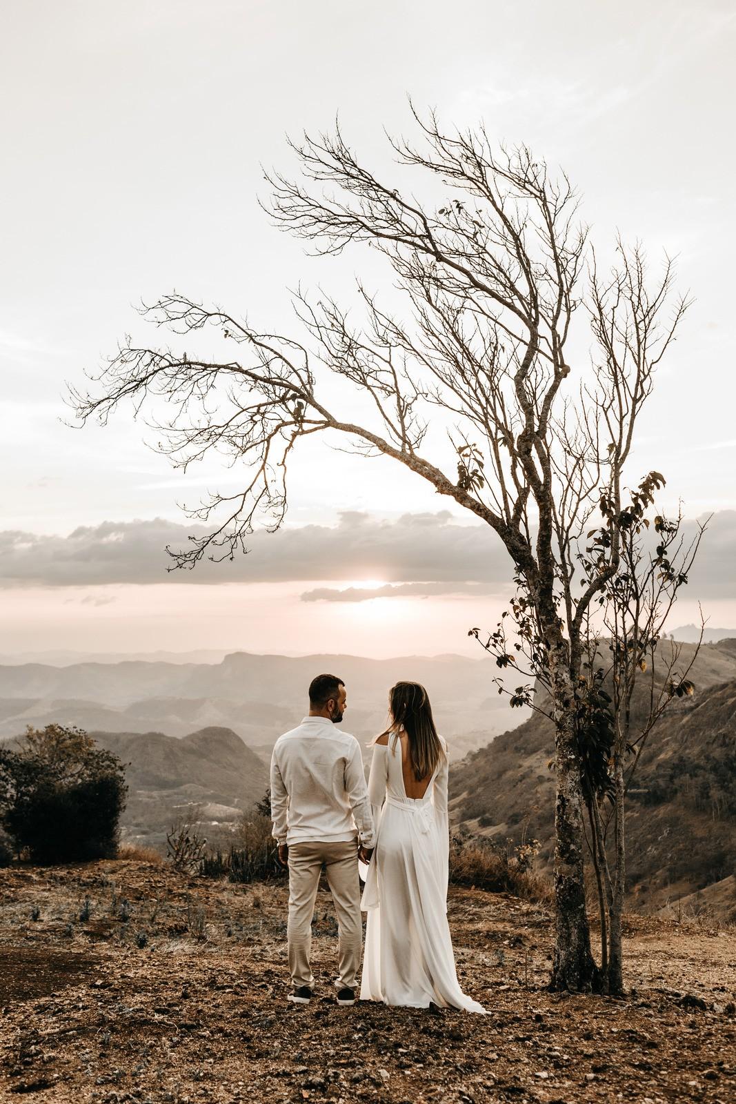 Winter intimate wedding